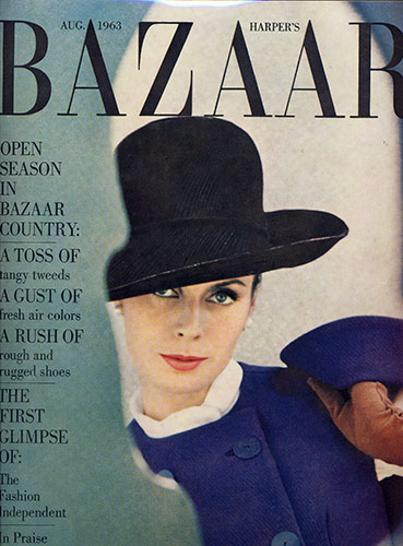 Harper's Bazaar Cover August – 1963
