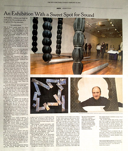 New York Times Review of 2014 Emily Lowe Gallery Exhibition